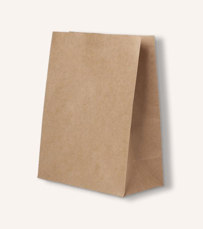 Крафт пакет без ручек (бурый)