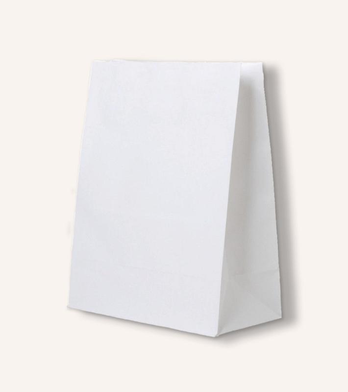 Крафт пакет без ручек (белый)