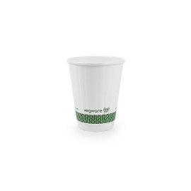 Стакан для горячих напитков из белой бумаги и кукурузного крахмала