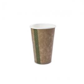 Стакан для горячих напитков из коричневой крафт-бумаги и кукурузного крахмала