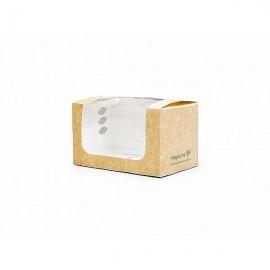 Коробка для сэндвичей из крафт-картона с окошком